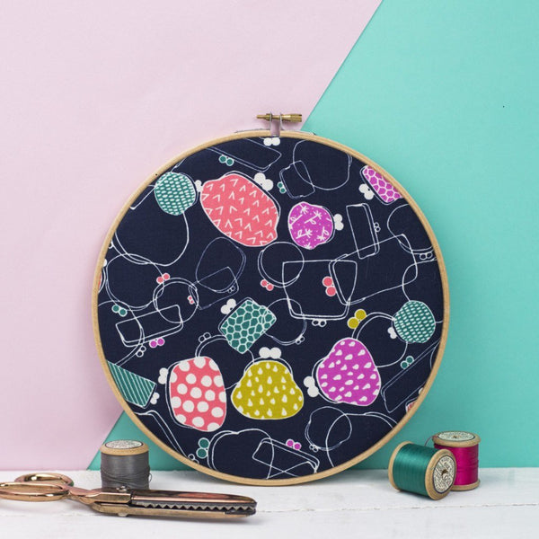 Rachel & George Embroidery hoop artwork Purses Print Embroidery Hoop Art