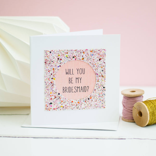 Rachel & George Greetings Card Will You Be My Bridesmaid Card