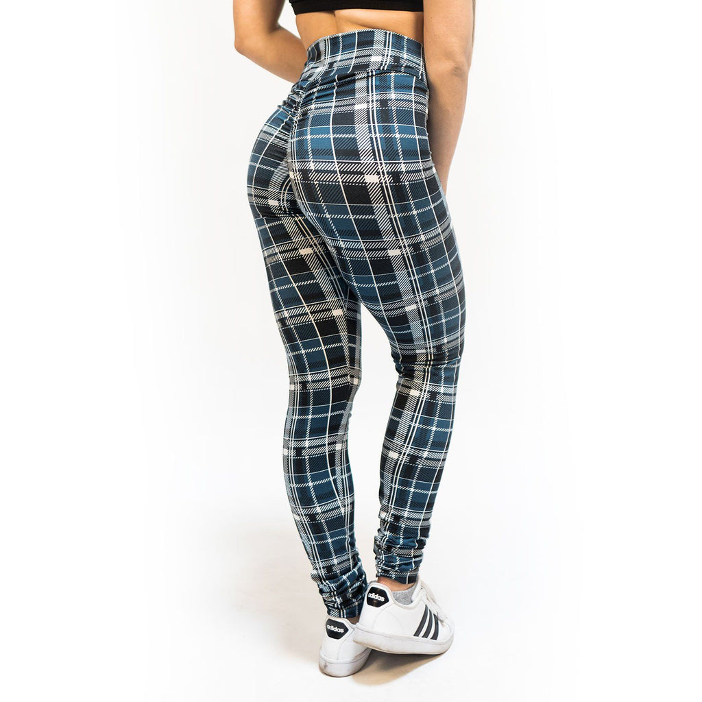 High Waist Rockin Plaid Leggings