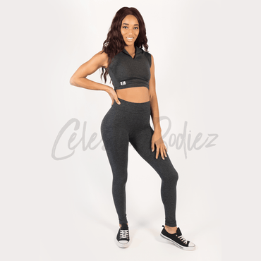 High Waist Charcoal Leggings