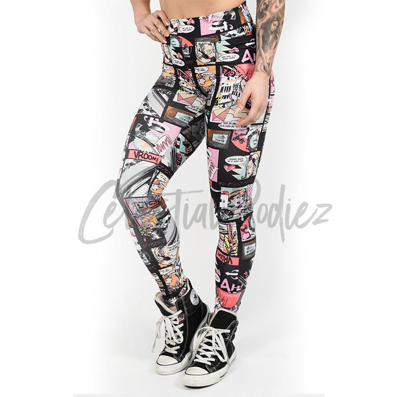 High Waist Comic Leggings