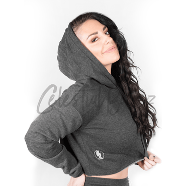 *CHILL* Charcoal Cropped Hoodie