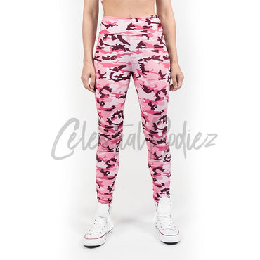 High Waist Pink Camo Leggings