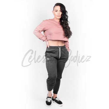 *CHILL* Rose Cropped Long Sleeve Tee
