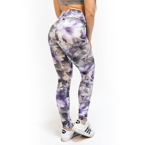 V-Cut Heather Grey Leggings