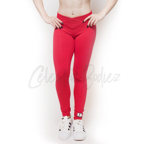 V-CUT CRIMSON LEGGINGS
