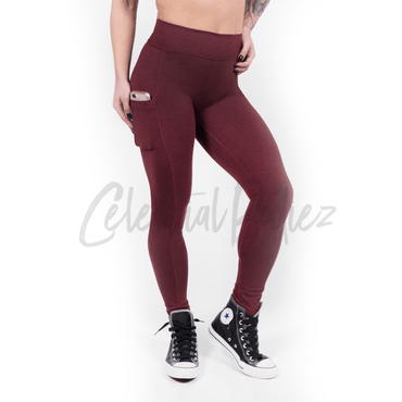 High Waist Ruby Pocket Leggings