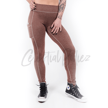 High Waist Red Rock Pocket Leggings