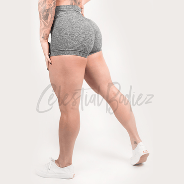 High Waist Heather Grey Shorts