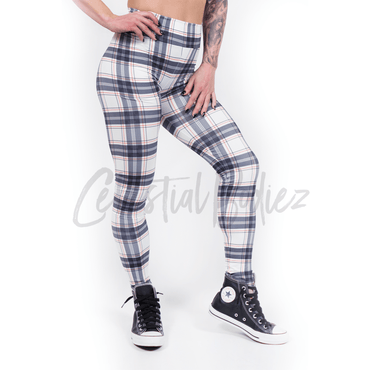 High Waist Princess Plaid Leggings