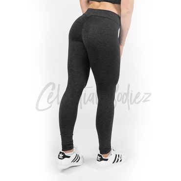 V-Cut Charcoal Leggings