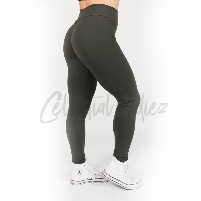 High Waist Army Leggings