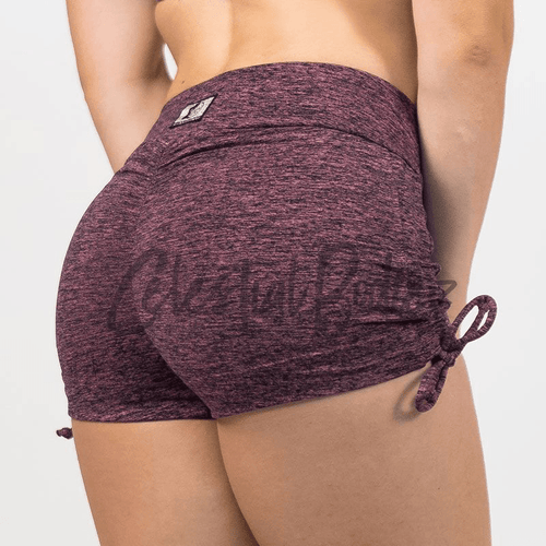 V-Cut Sunset Shorts w/ Side Scrunch