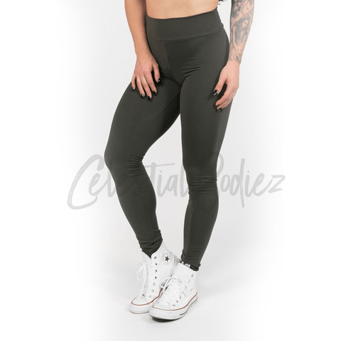 V-Cut Lunar Black Leggings