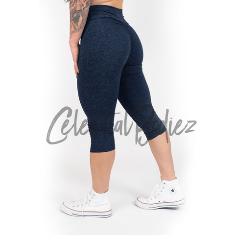 High Waist Lunar Black Capri