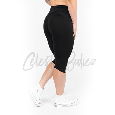 High Waist Black Capri Leggings