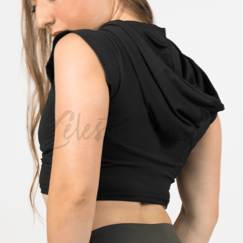 Lunar Black Sports Bra