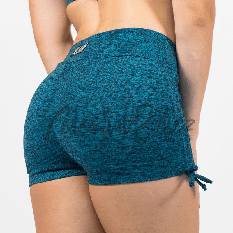 V-Cut Electric Shorts w/ Side Scrunch