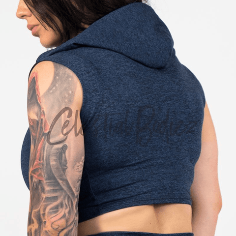 Midnight Hooded Crop-Top