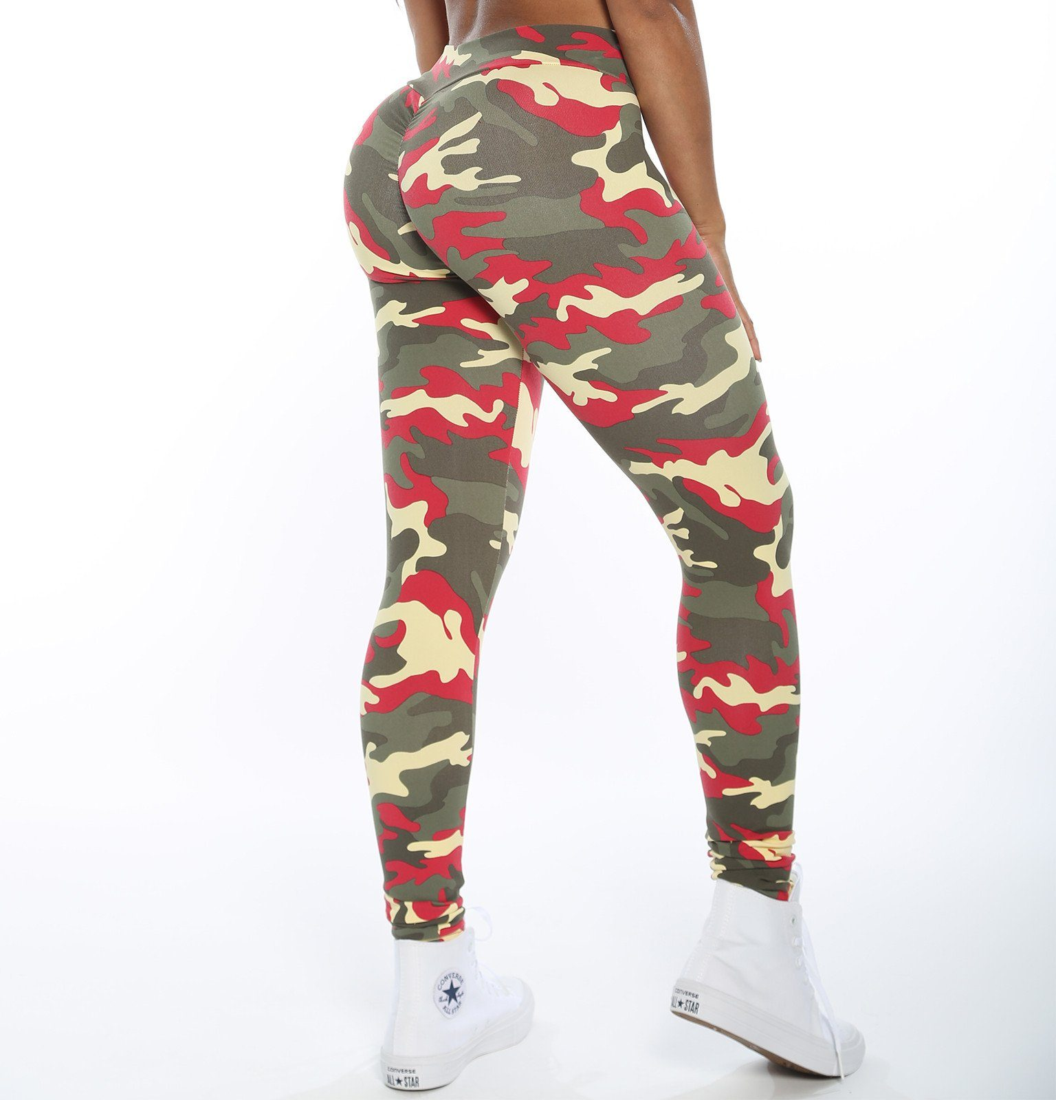 V-Cut Desert Camo Leggings