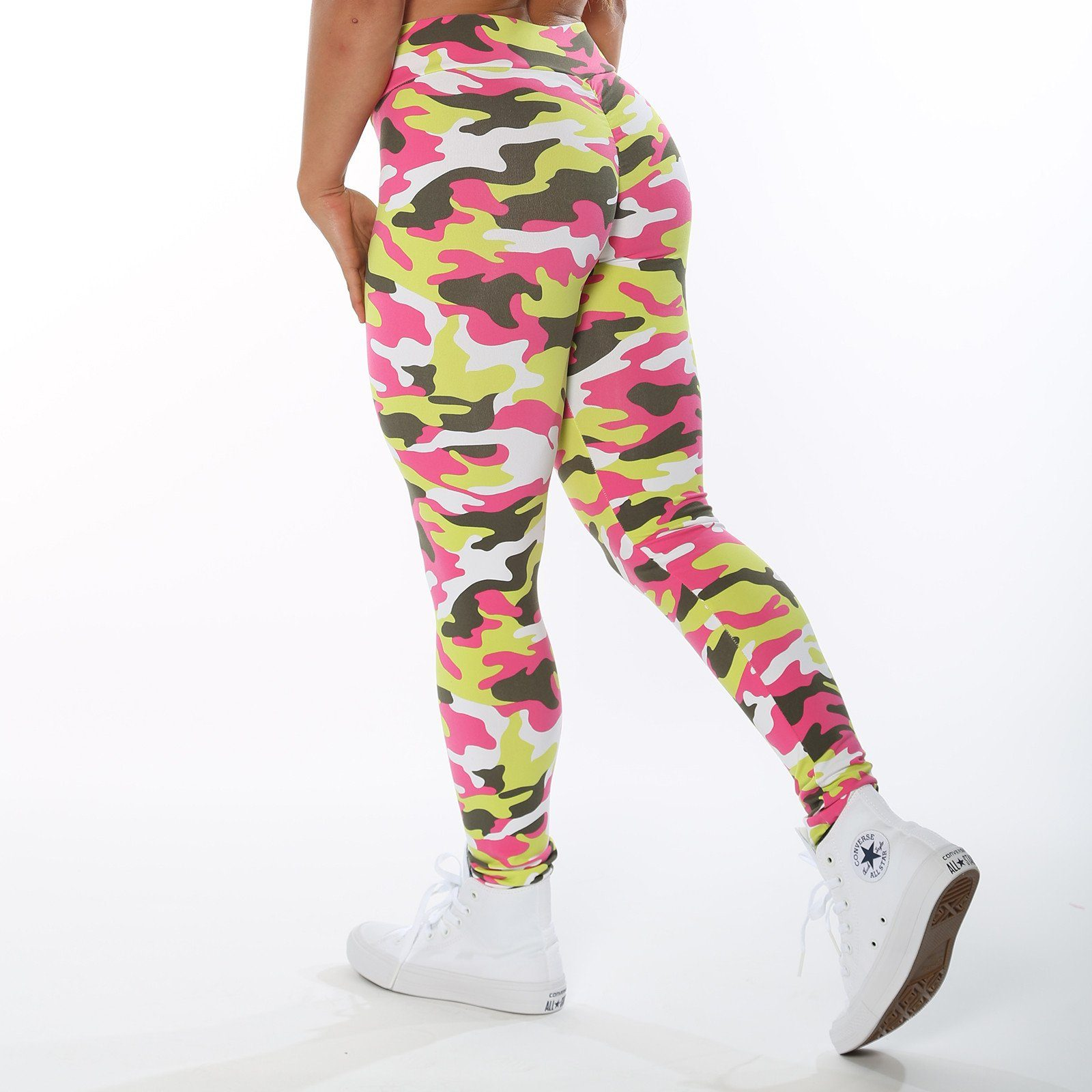 V-Cut Tropic Camo Leggings