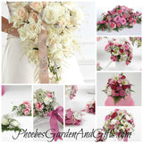 Pink, White & Lavender Wedding Flowers