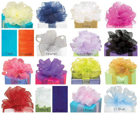 Sheer Organza Ribbon Colors