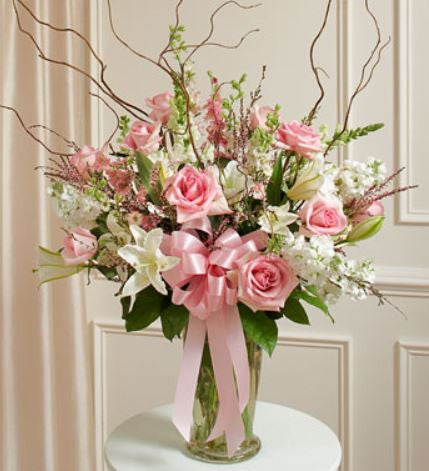 Beautiful Blessings Pink Vase Arrangement ~ Donna's Garden