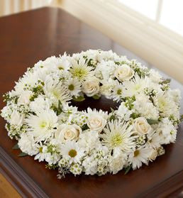 Cremation Wreath - All White