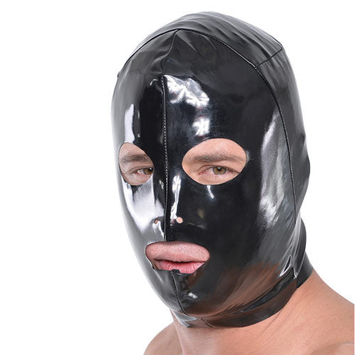Fetish Fantasy Wet Look 3 Hole Hood
