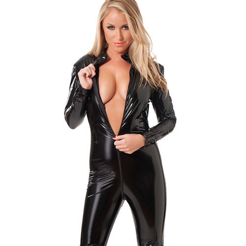 PVC Catsuit With Zipper