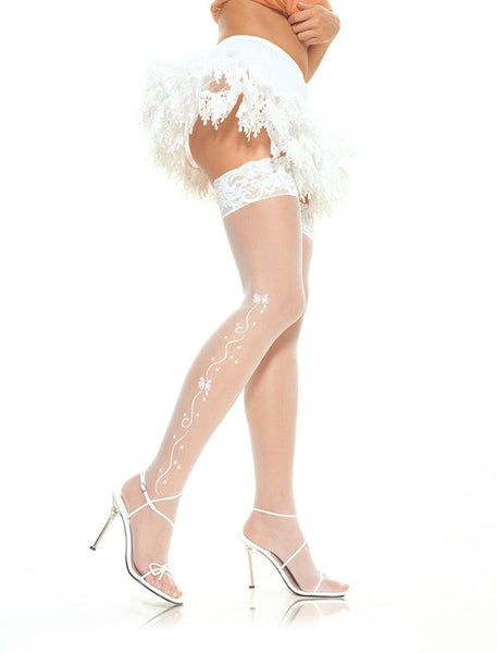 Leg Avenue Wedding Bells Thigh Highs