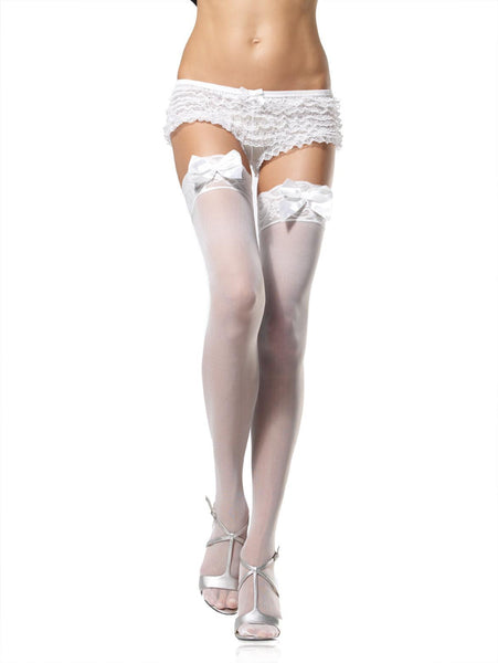 Leg Avenue Lace Top Stockings W/Bows