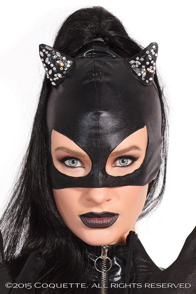 Cat Mask With Rhinestones