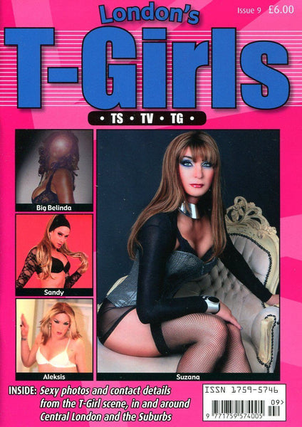 LONDON'S T-GIRLS CONTACTS #9 - Transvestite Cross-Dressing Lifestyle Magazine
