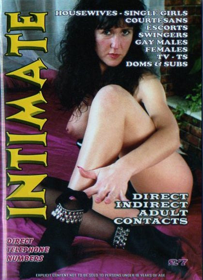 Intimate Adult Contacts Magazine
