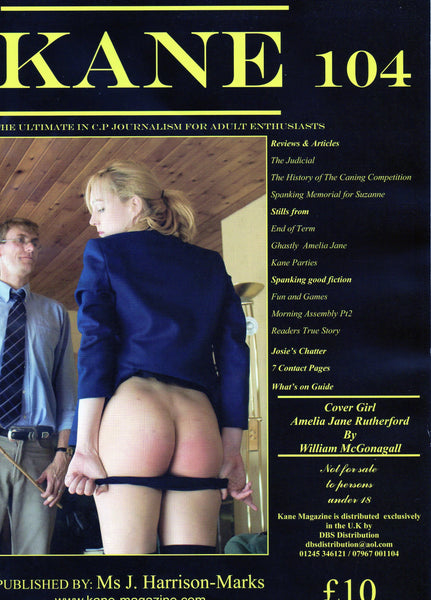 Kane Magazine Number 104 The Ultimate in Corporal Punishment for Adult Enthusiasts