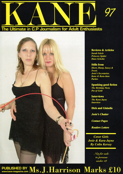 Kane Magazine Number 97 The Ultimate in Corporal Punishment for Adult Enthusiasts