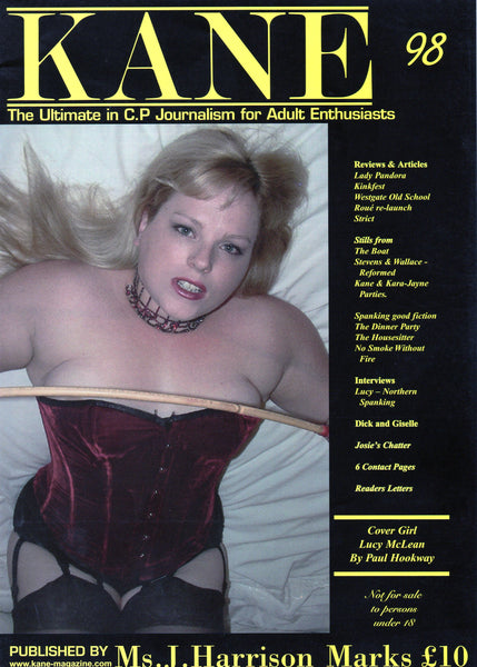 Kane Magazine Number 98 The Ultimate in Corporal Punishment for Adult Enthusiasts