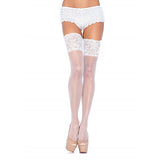 Leg Avenue Plus Size Stay Up Sheer Thigh High