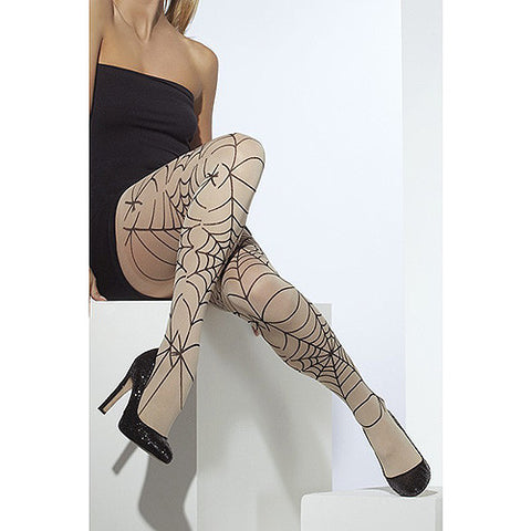 Fever Opaque Nude Spiderweb Tights