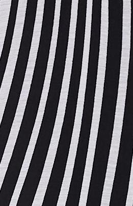 Monochrome chiffon fabric with flattering stripes