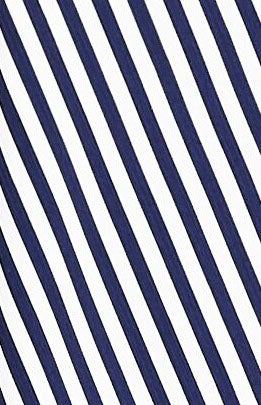 Blue and white striped crepe fabric