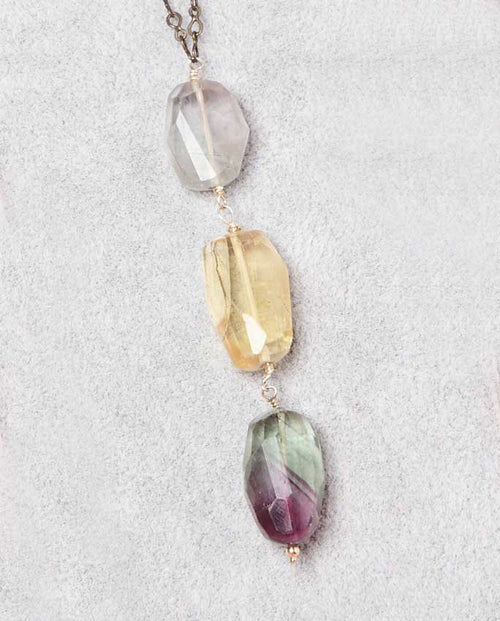 Gems of dazzling hues of silver, lemon, emerald and purple.