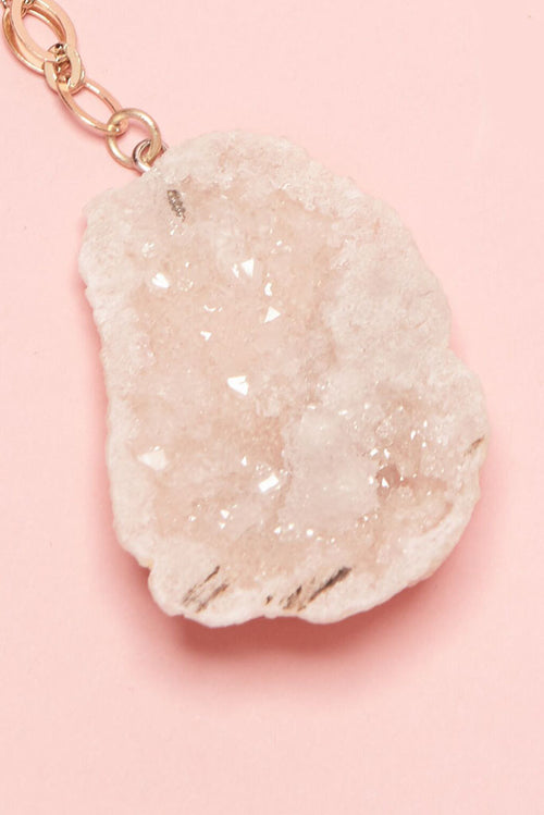A stunning large sugary crystal druzy pendant