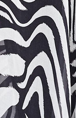 black & white zebra prints silk fabric