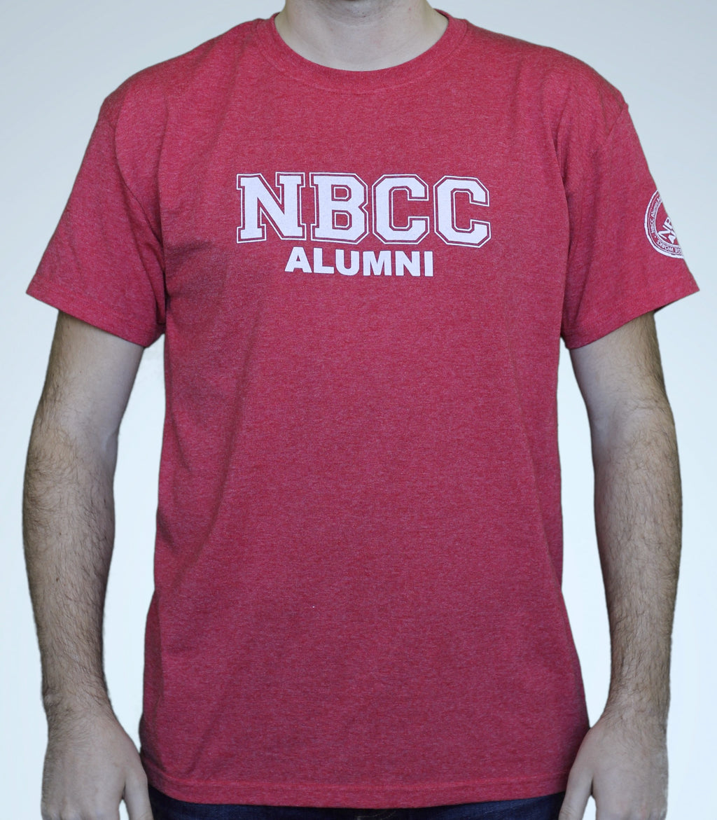 Red NBCC Alumni Block Letter T-shirt