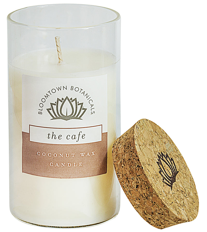 Scented Botanical Wax Candle - The Cafe (Vanilla & Hazelnut)