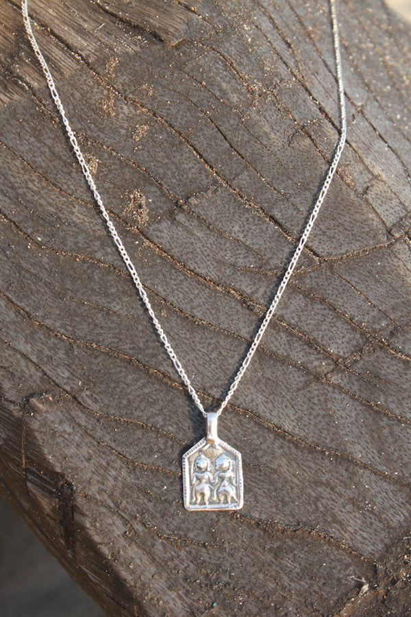 SILVER INTENTION NECKLACE - LOVE