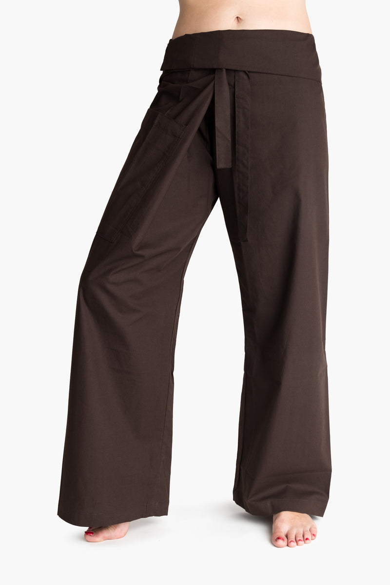 Men's Thai Fisherman Trousers - Chocolate